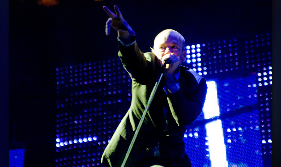 R.E.M  performing live at Lancashire Cricket Ground on 24th August 2008.  Non-exclusive World Rights Apply **Unbylined usages