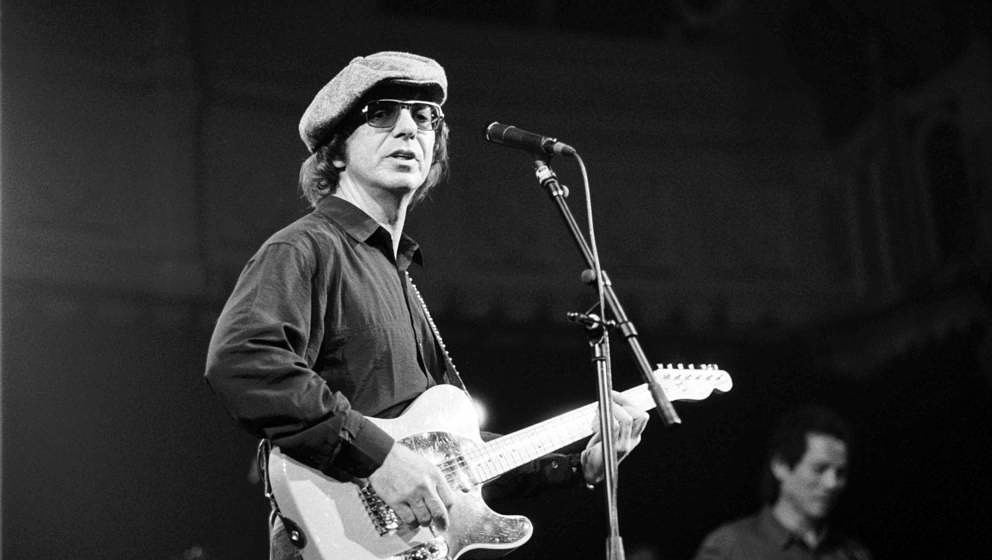 Dion Dimucci, vocal, performs at the Paradiso on 1st March 1990 in Amsterdam, the Netherlands. (Photo by Frans Schellekens/Re