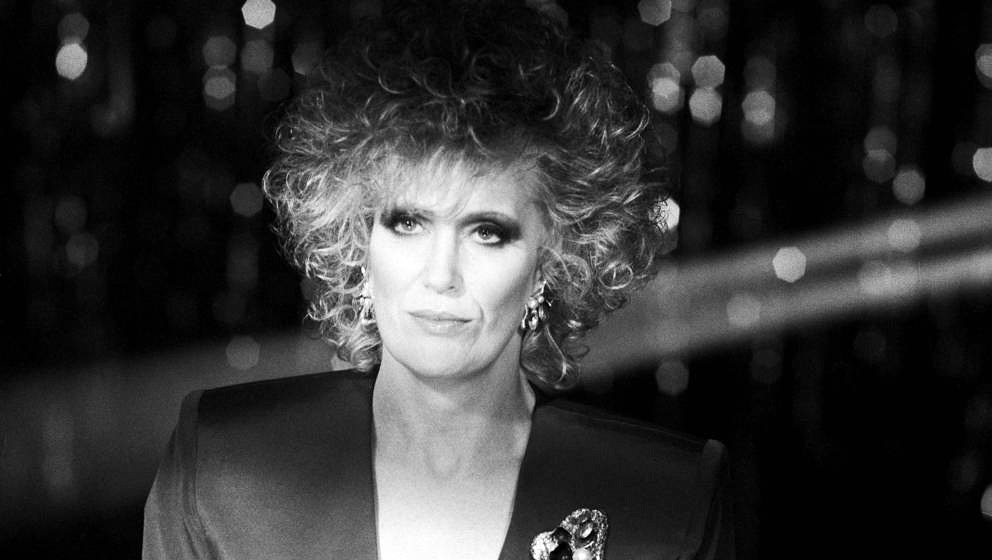 Dusty Springfield, studio portrait, shooting cover for 'Nothing Has Been Proved' single, London, December 1988. (Photo by Mic