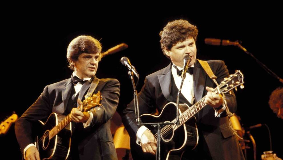 UNITED KINGDOM - SEPTEMBER 22:  ROYAL ALBERT HALL  Photo of Don EVERLY and Phil EVERLY and EVERLY BROTHERS, L-R: Phil Everly