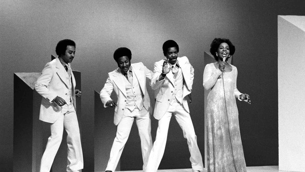 THE GLADYS KNIGHT & THE PIPS SHOW -- Air Date 07/17/1975 -- Pictured: (l-r) The Pips: William Guest, Eddie Patten, Merald