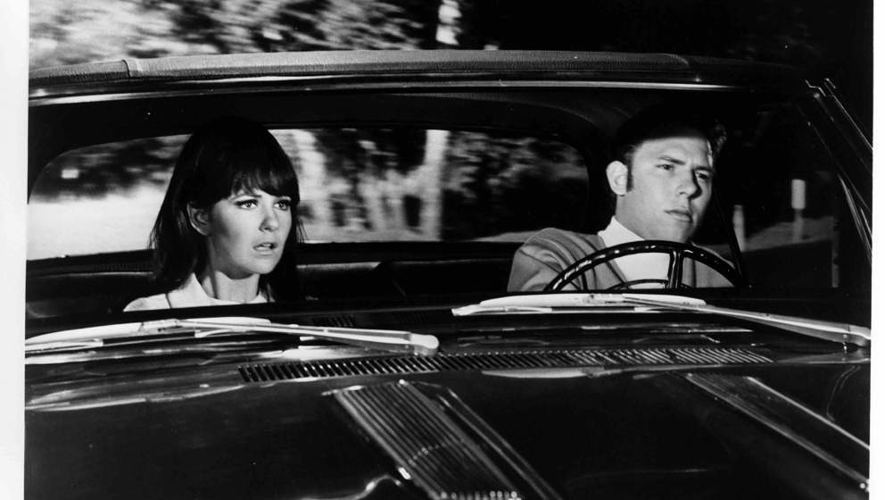 Shelley Fabares warns Hank Williams Jr. too late of an oncoming car in a scene from the movie 'A Time to Sing', circa 1968. (