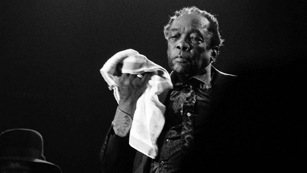 John Lee Hooker, vocal, performs at the North Sea Jazz Festival in the Hague, the Netherlands on 15 July 1990. (Photo by Fran
