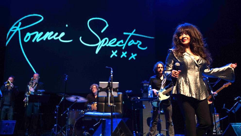 LONDON, ENGLAND - MARCH 9:  Ronnie Spector performs live on stage during WOW – Women of the World Festival at the Queen Eli