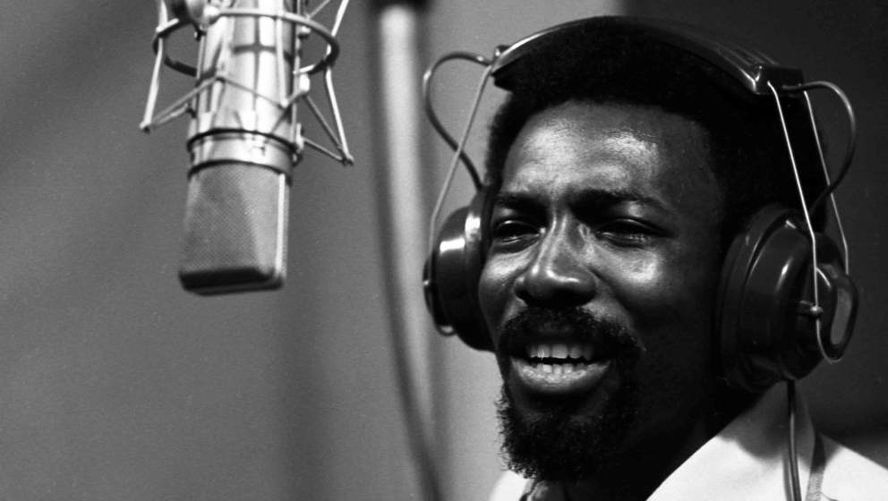 SHEFFIELD, AL - NOVEMBER 24: Soul singer Wilson Pickett records at Muscle Shoals Recording Studios on November 24, 1969 in Sh
