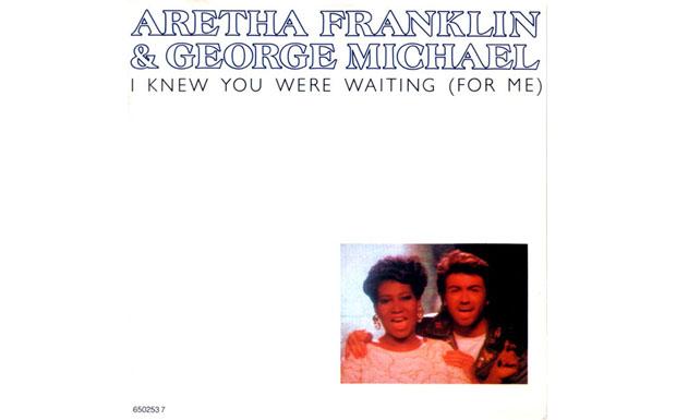 30. George Michael with Aretha Franklin - I Knew You Were Waiting For Me. Was macht man mit der weltbesten Soulsängerin, die