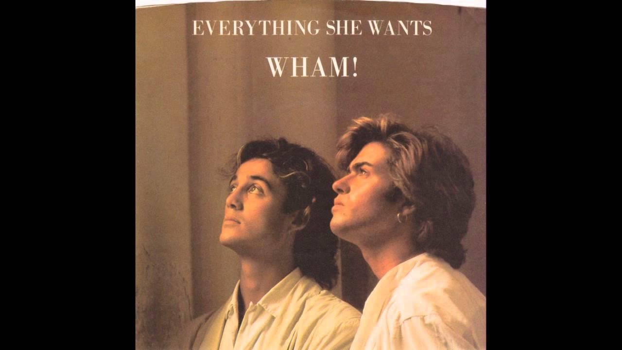 4. Wham: Everything She Wants. Musik und Text bilden einen reizenden Kontrast: der schleppende, aber tanzbare Beat und George
