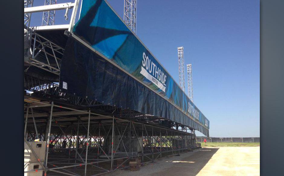 Southside 2013: die Bilder vom Aufbau