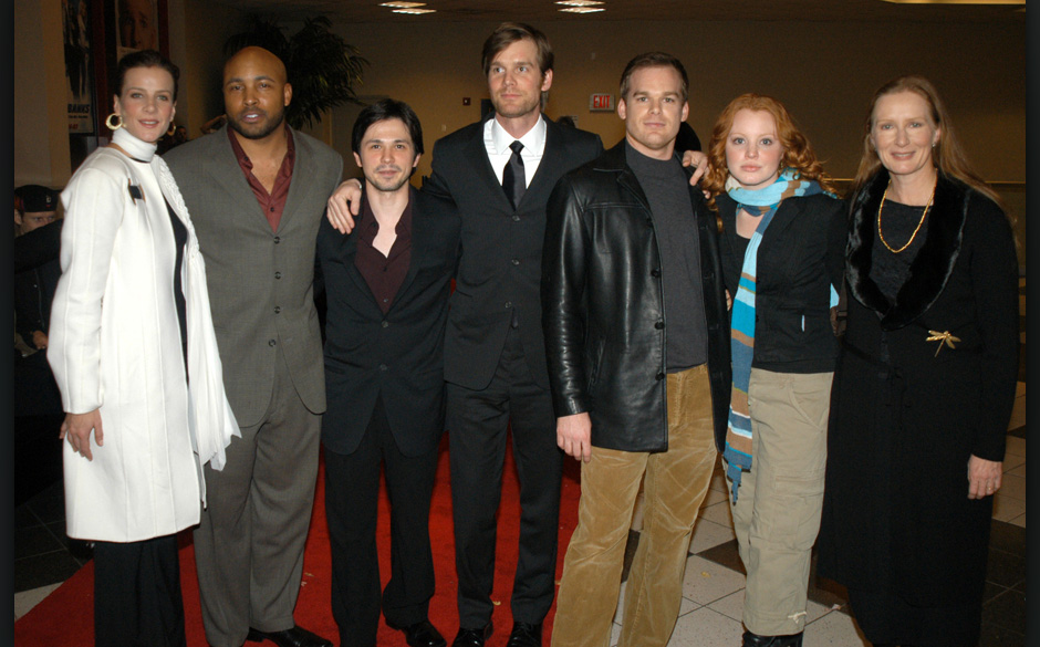 Rachel Griffiths, Mathew St. Patrick, Freddy Rodriguez, Peter Krause, Michael C. Hall, Lauren Ambrose and Frances Conroy (Pho