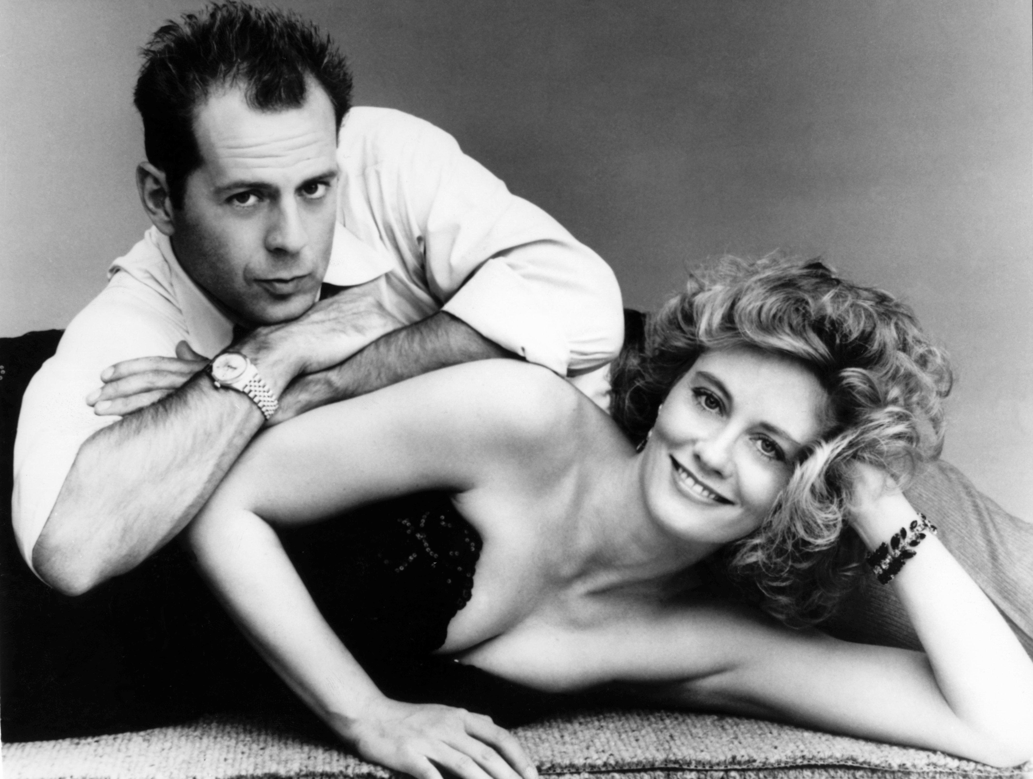 Cybill Shepherd mit Bruce Willis in 'Das Model und der Schnüffler' (undatierte Aufnahme). Die US-Schauspielerin feiert am 18