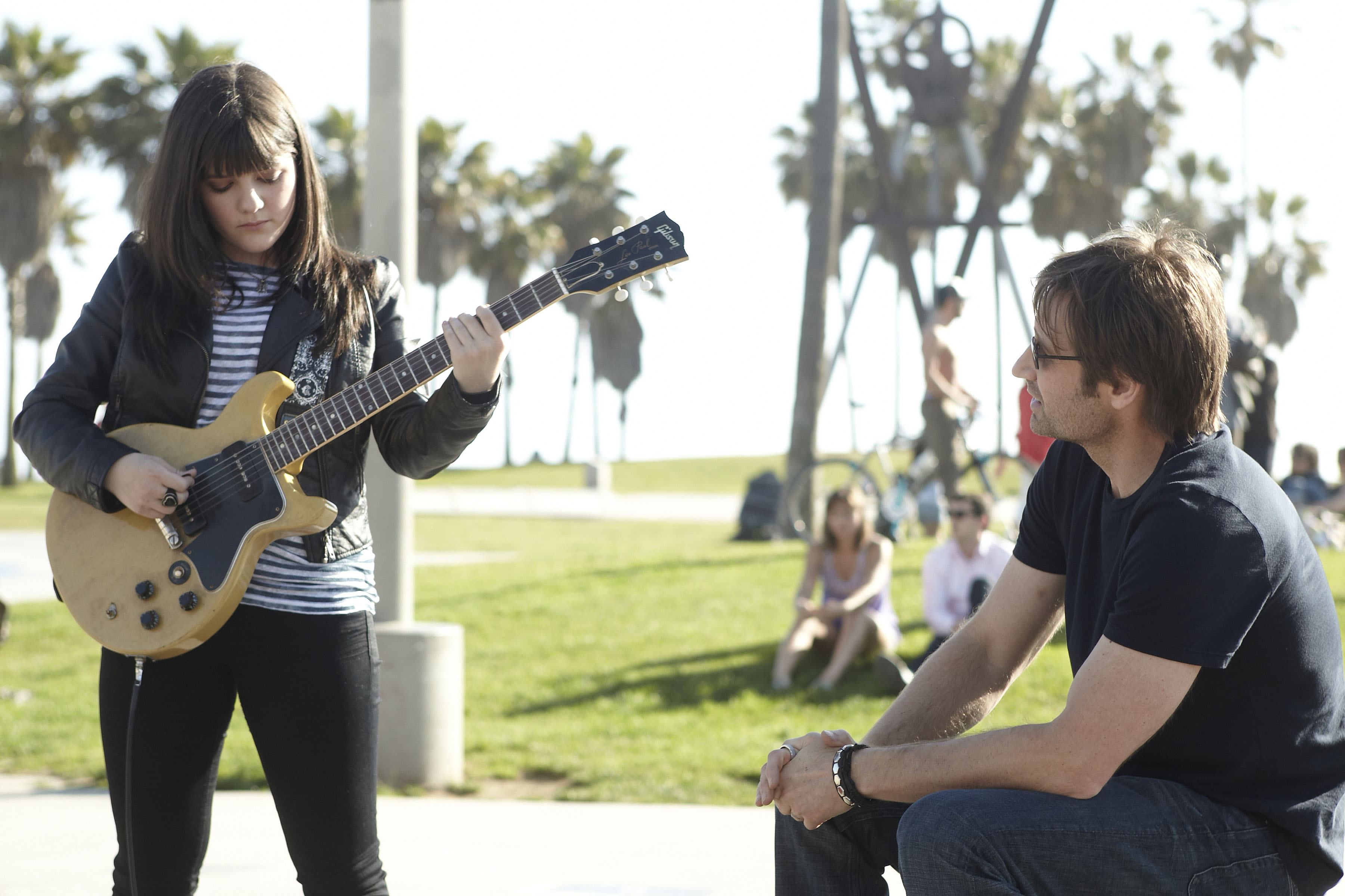Image #: 12698368    Madeleine Martin as Becca and David Duchovny as Hank in 'Californication.'     SHOWTIME/Jordin Althaus /