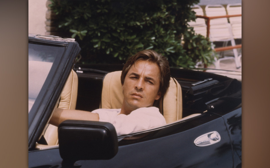 Miami Vice (Miami Vice, TV-Serie USA 1984-1989) Don Johnson  / Mann in Sportwagen 'Daytona Spider', Cabrio, Cabriolet /------