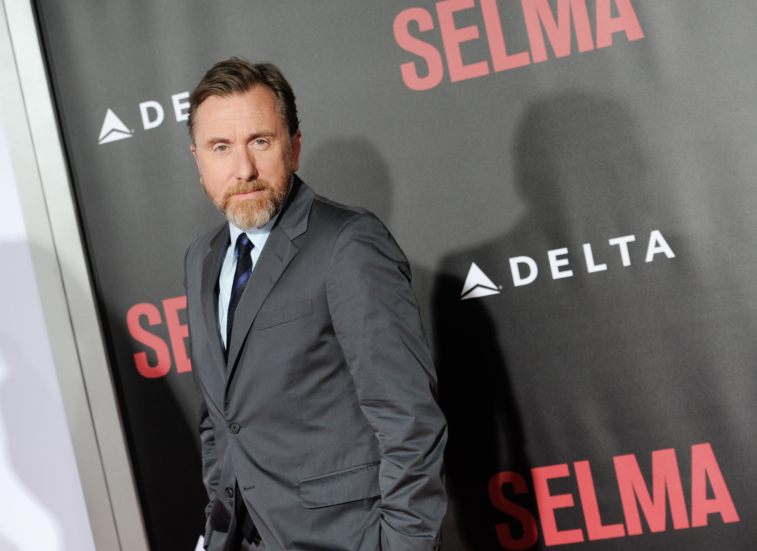 Actor Tim Roth attends the premiere of 'Selma' at the Ziegfeld Theatre on Sunday, Dec. 14, 2014, in New York. (Photo by Evan