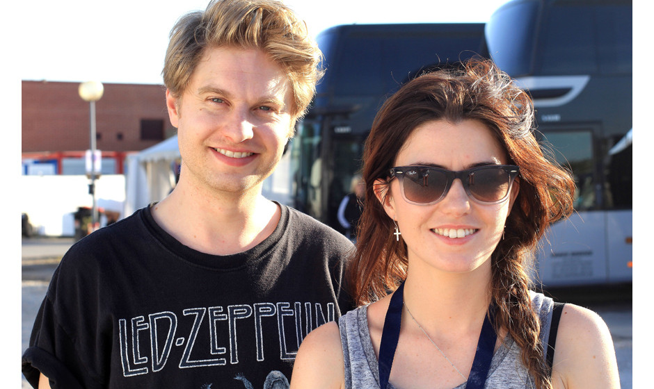 Steven Ansell und Laura-Mary Carter von Blood Red Shoes