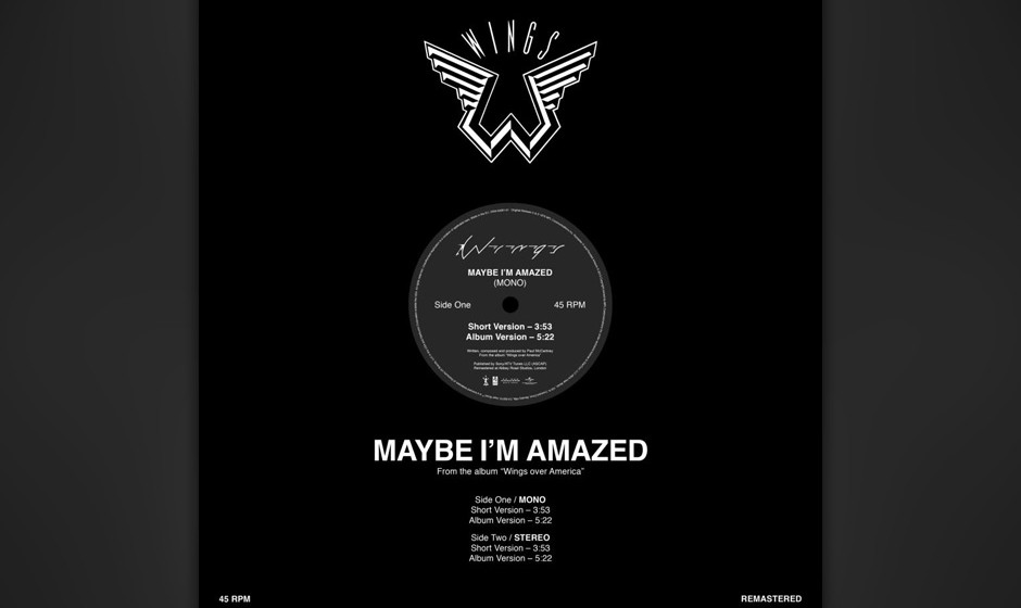 """2. Maybe I'm Amazed (Auf """"McCartney"""", 1970). McCartney schrieb diesen Song 1969, als er in den Abbey Road Studios den T"""