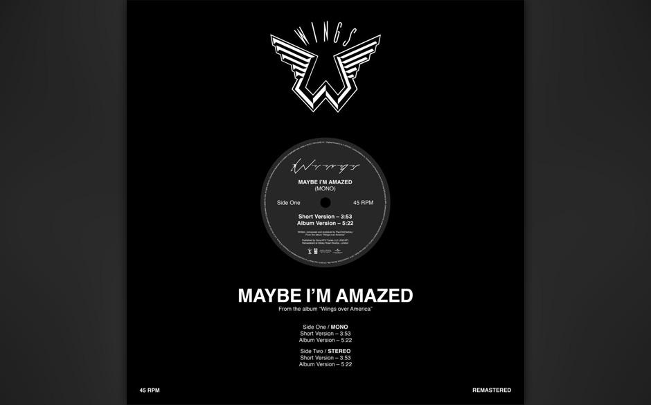 """2. Maybe I'm Amazed (Auf """"McCartney"""", 1970). McCartney schrieb das Stück 1969, als er in den Abbey Road Studios den Tr"""