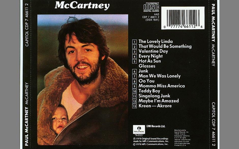 """6. Junk (Auf """"McCartney"""", 1970). Dieser Song von fast beiläufiger Schönheit und tiefer Melancholie wäre beinahe schon"""