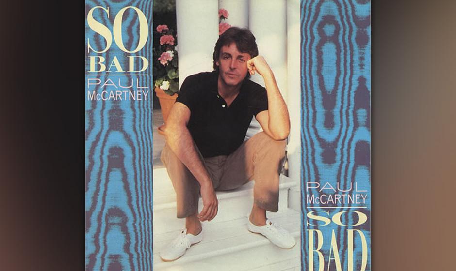 """64. So Bad (Auf """"Pipes Of Peace"""", 1983). Eine Schnulze. Aber was für eine. Ringo verdreht im Video die Augen, Paul singt"""