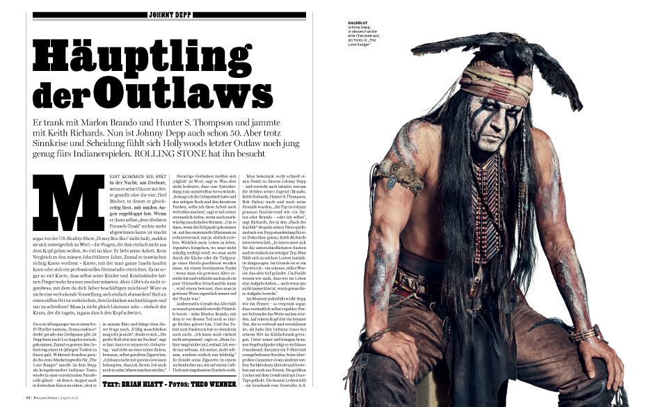Häuptling der Outlaws: Johnny Depp