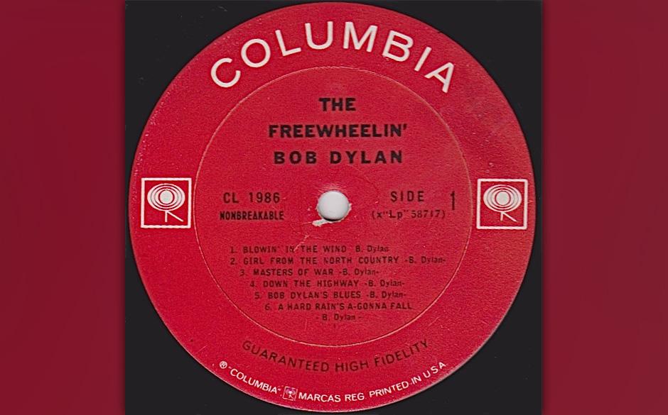 """Bob Dylan - """"The Freewheelin' Bob Dylan"""" (withdrawn version)1963. Zurückgezogene Version mit den vier Songs, die sich"""