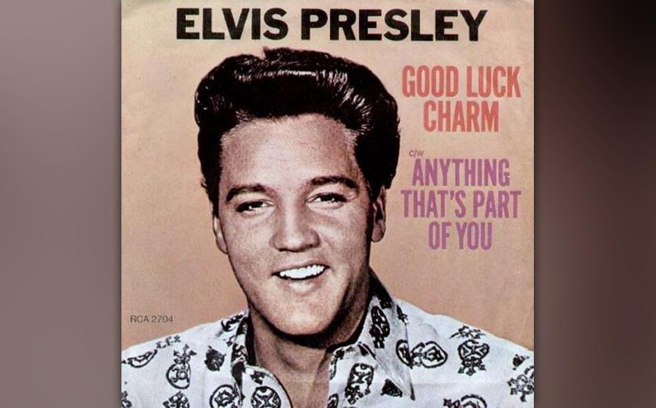 """Elvis Presley - """"Good Luck Charme"""" single 1962. Die Besonderheit an diesem Album: Es war eine der letzten monauralen Aufn"""