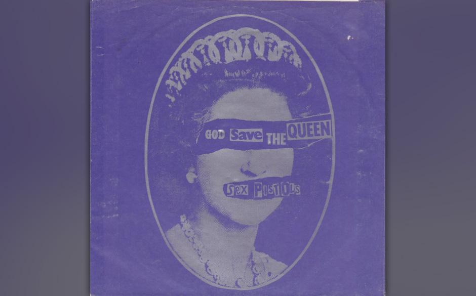 """Sex Pistols – """"God Save The Queen/No Feelings"""" (1977, acetate). Diese Single wurde von A&M Records an Mitarbeiter verte"""
