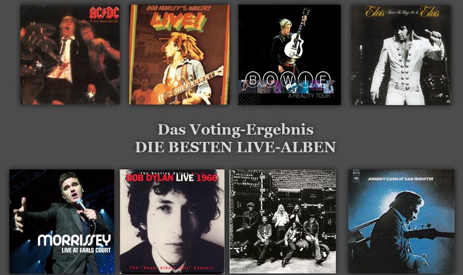 Sie haben entschieden: Dies sind die besten Live-Alben aller Zeiten