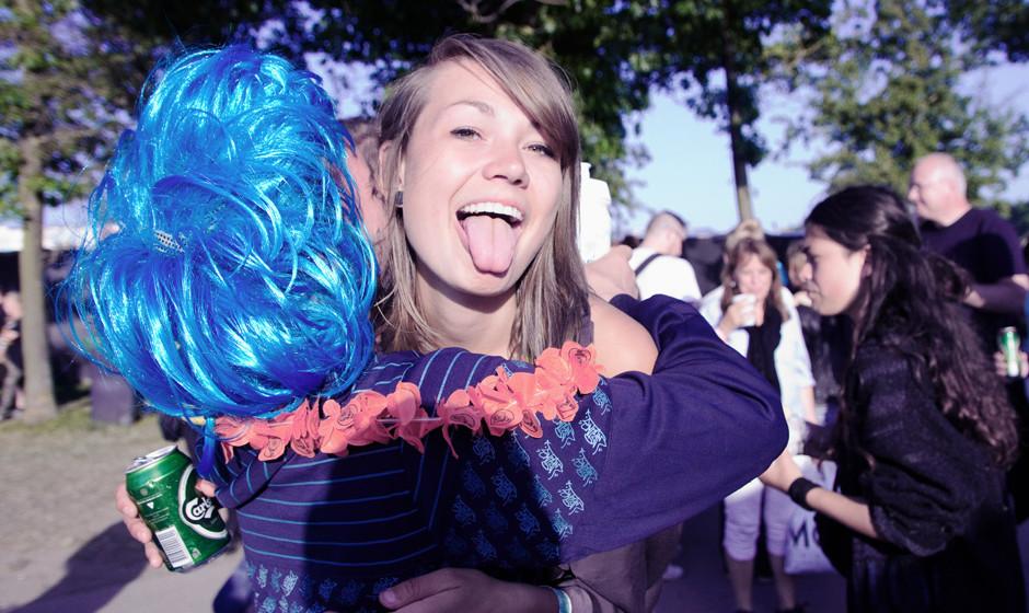 Fans beim Roskilde Festival 2013