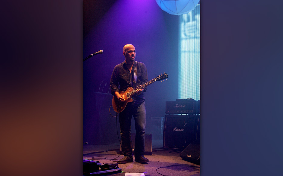 AUSTIN, TX - SEPTEMBER 21:  Musician Joey Santiago performs in concert with the Pixies at the Austin Music Hall on September
