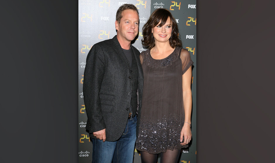 LOS ANGELES, CA - JANUARY 06:  Kiefer Sutherland and Mary Lynn Rajskub arrive to the 150th episode and season 7 premiere part