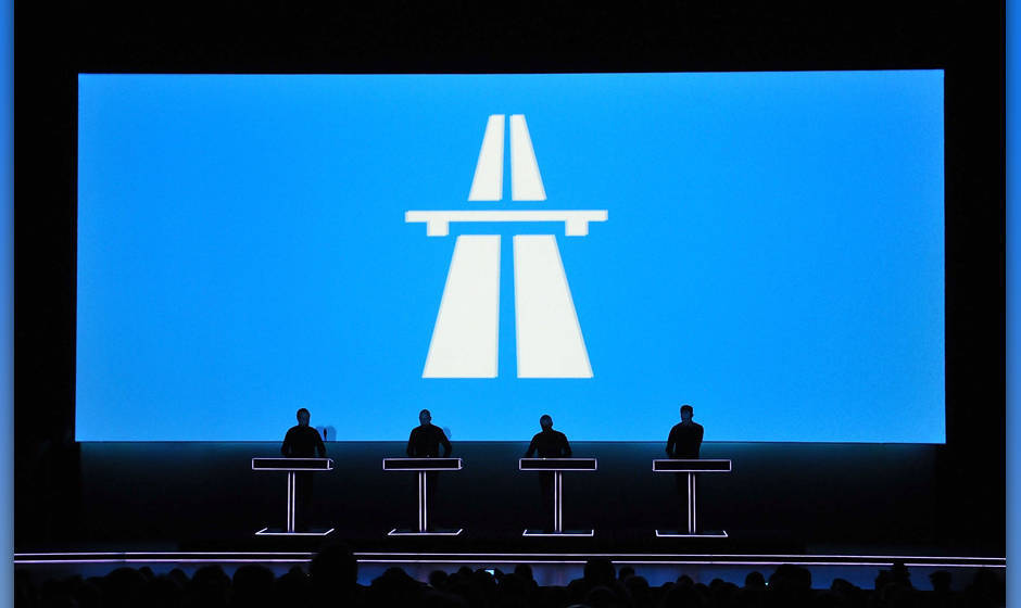 LONDON, ENGLAND - FEBRUARY 06:  (EDITORIAL USE ONLY)  Ralf Hutter (L), of German electronic pioneers Kraftwerk, performs live