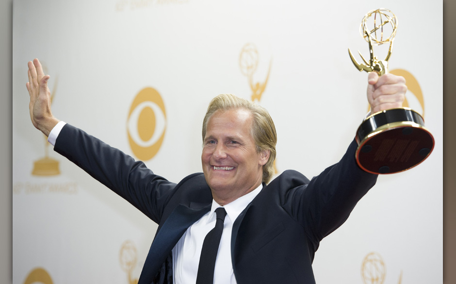 Sept. 22, 2013 - Los Angeles, California, U.S - JEFF DANIELS winner of Lead Actor in a Drama Series in the Press Room of the