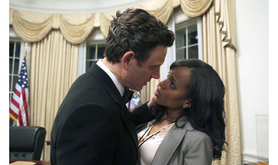 Obwohl der Präsident (Tony Goldwyn) verheiratet ist, kann Olivia (Kerry Washington) ihm nicht widerstehen.