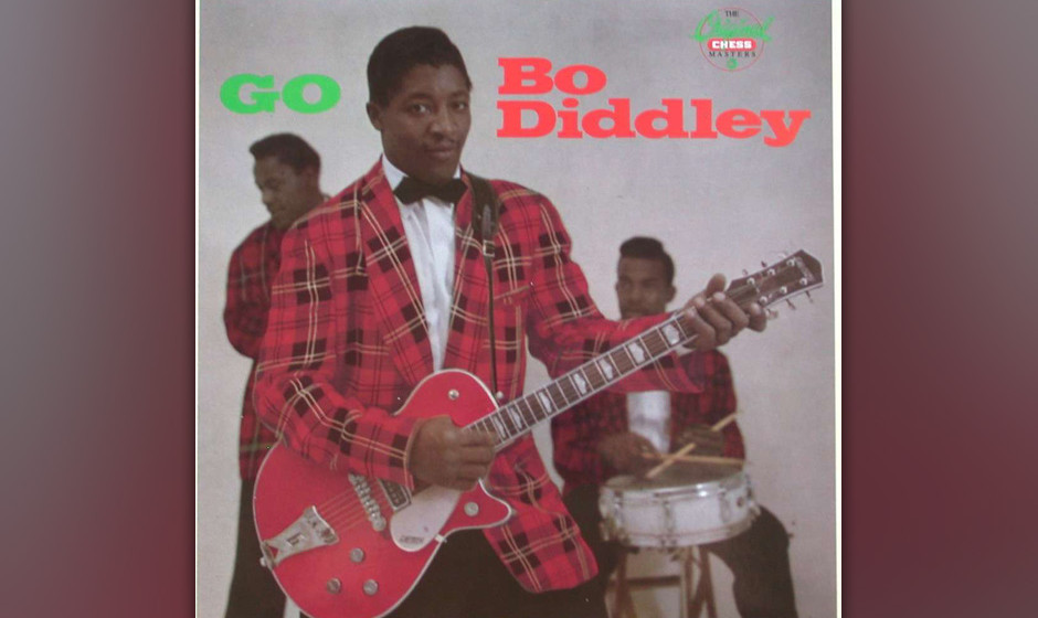 216. Bo Diddley/Go Bo Diddley: Bo Diddley 1990. Sein Einfluss ist kaum zu überschätzen – von seinen schrägen Off-Beat-Rh