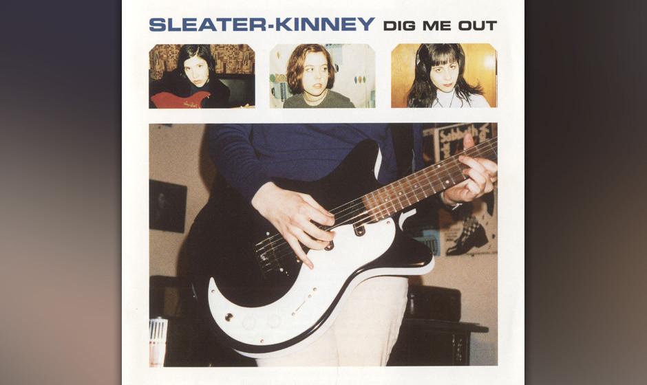 272. Dig Me Out: Sleater-Kinney 1997. Als Drummerin Janet Weiss auf der dritten LP zu den Gitarristinnen Corin Tucker und Car