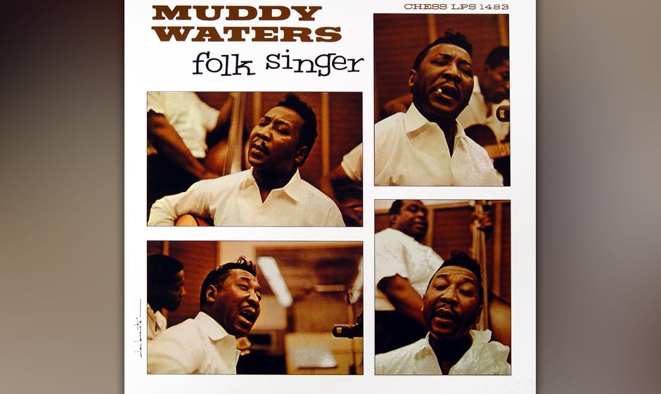 282. Folk Singer: Muddy Waters 1964. Da man befürchtete, der Folk-Boom würde den Blues verdrängen, schickten die Chess-Bos