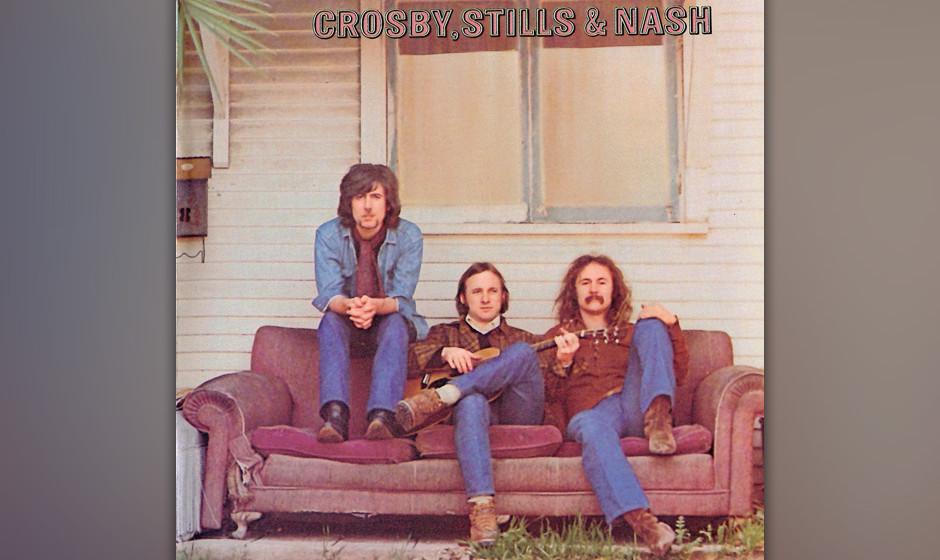 """262. Crosby, Stills and Nash: Crosby, Stills And Nash 1969. Jimi Hendrix nannte CSN """"groovy, Western-sky music"""". Auf ihre"""