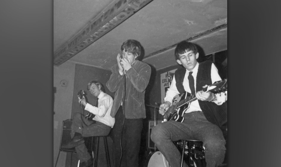 LONDON - 14th APRIL: The Rolling Stones perform live on stage at Studio 51 Club in Great Newport Street, London on 14th April