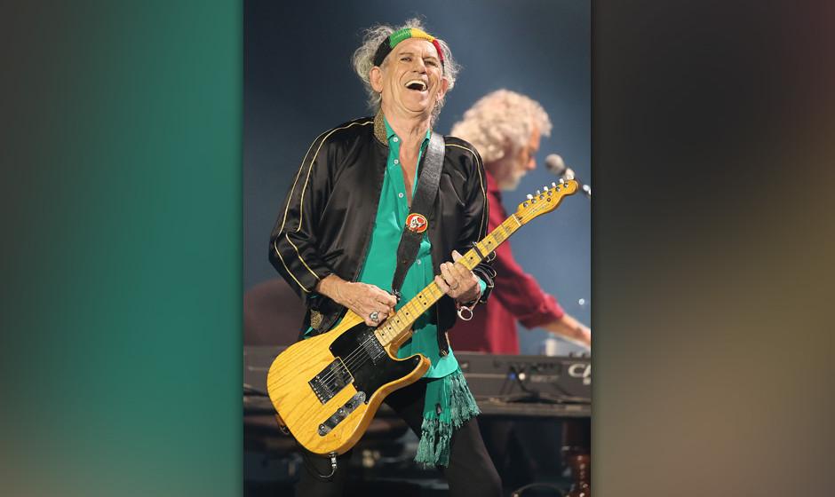 Der Gitarrist der Rolling Stones, Keith Richards, aufgenommen am 19.06.2014 in D¸sseldorf (Nordrhein-Westfalen). Foto: Olive