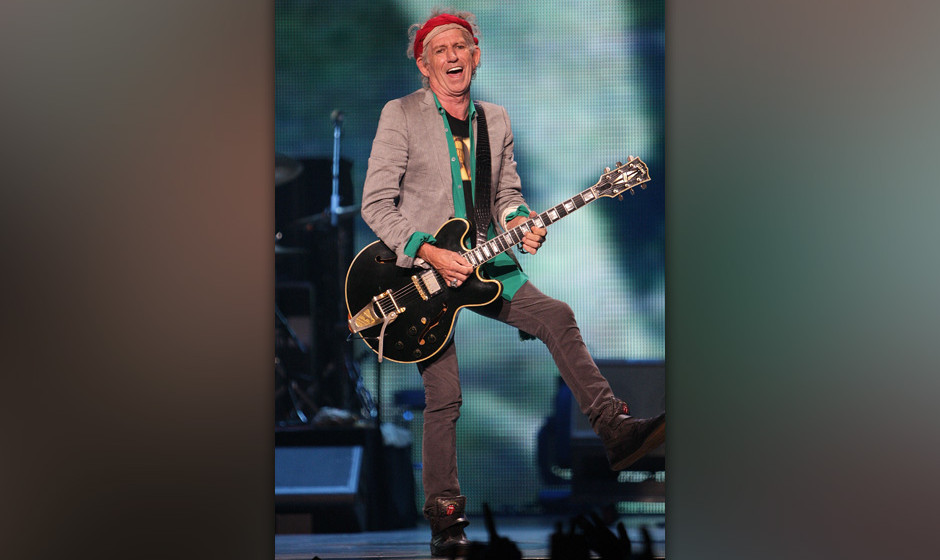 PHILADELPHIA, PA - JUNE 21:  Keith Richards from the Rolling Stones performs in concert at the Wells Fargo Center June 21, 20