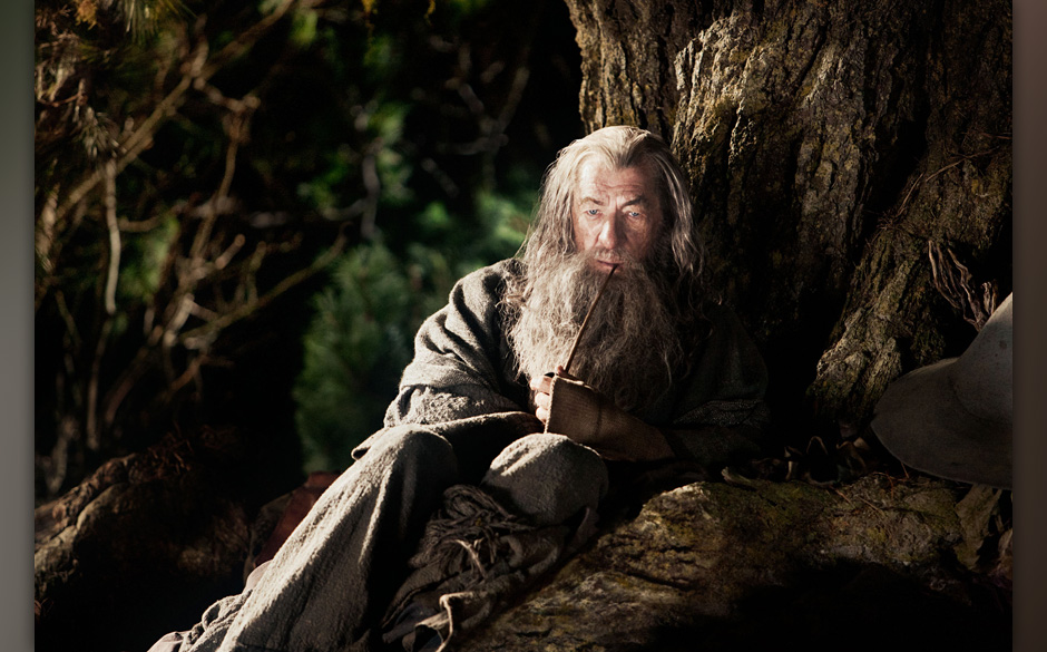 "IAN McKELLEN as Gandalf in New Line Cinema's and MGM's fantasy adventure ""THE HOBBIT: AN UNEXPECTED JOURNEY,"" a Warner"