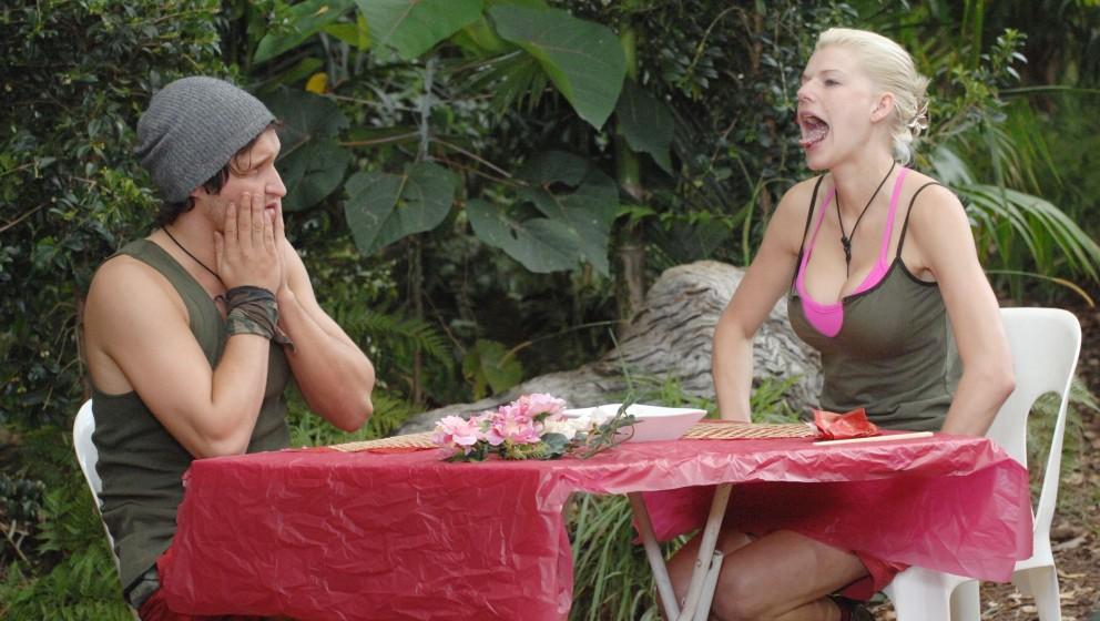 Tag 12 - Dschungelprüfung 12 'All you can eat'; Melanie Müller und Marco Angelini treten zur heutigen Dschungelprüfung an.