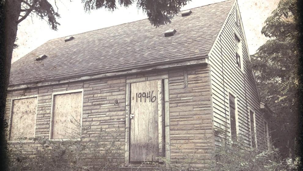 Auch der zweite Teil der Marshall Mathers LP von 2013 zeigt Eminems Kindheitshaus auf dem Cover.