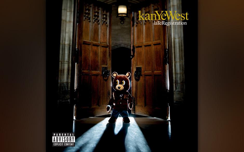 """118. Kanye West - Late Registration, 2005 Von großspurigen autobiografischen Songs (""""Touch The Sky"""") bis zu witzigem Clu"""