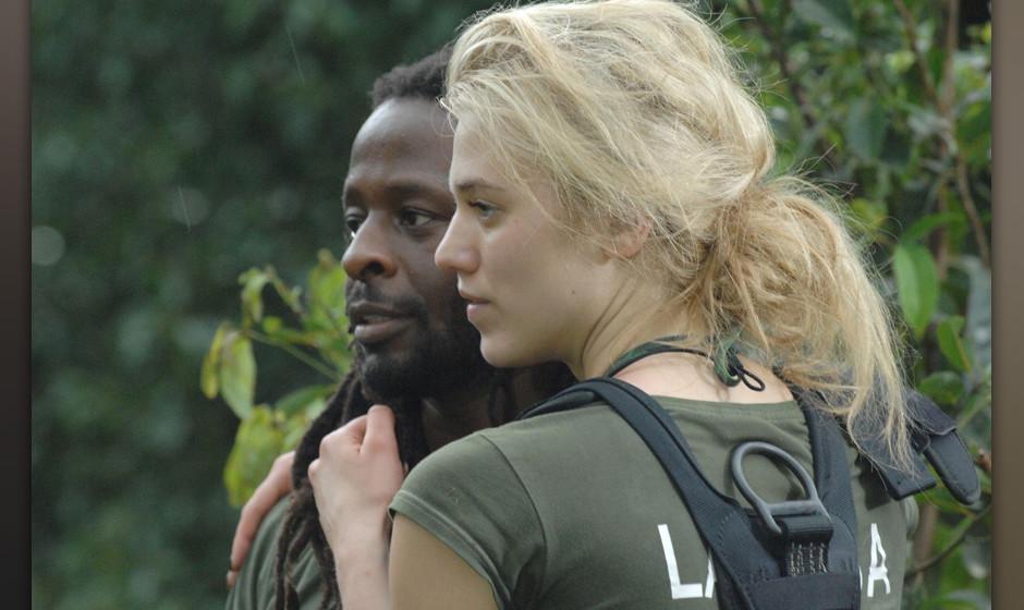 Tag 7 - Dschungelpr¸fung 7 'Hohe Erwartungen': Larissa Marolt und Mola Adebisi mussten bei ihrer Dschungelpr¸fung ¸ber ein