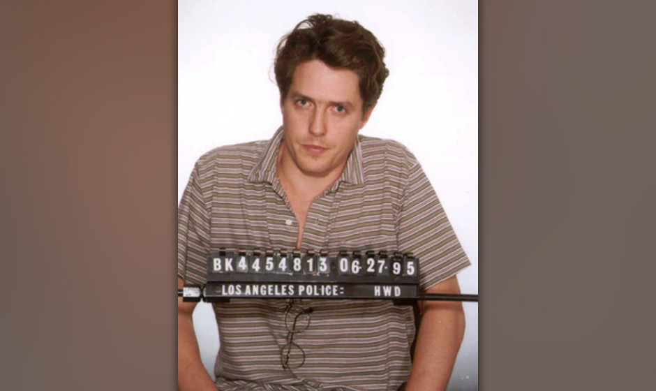 This is a Los Angeles police booking photo of British actor Hugh Grant who was arrested June 27, 1995, by Hollywood vice offi