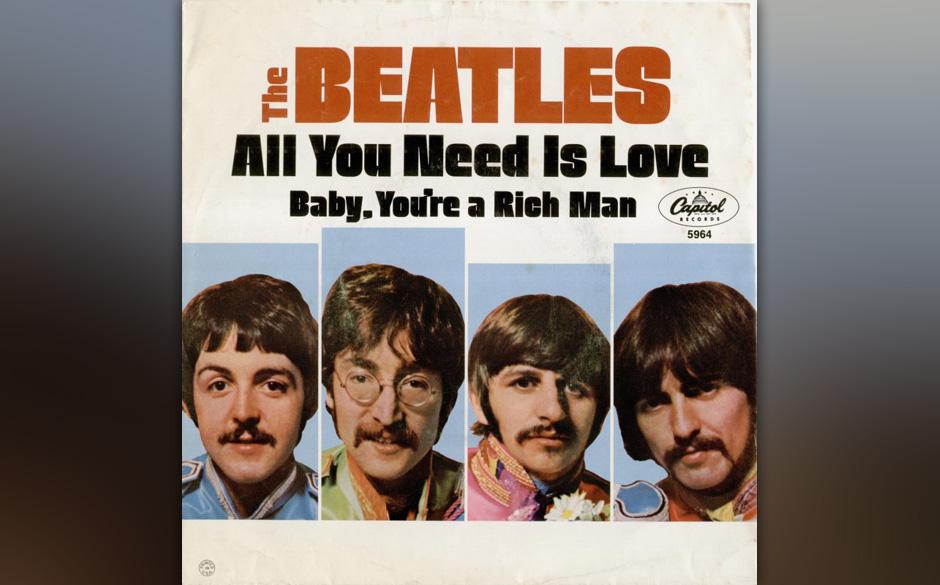 """68. """"Baby, You're A Rich Man"""" Autor: Lennon/McCartney, Aufgenommen: 11. Mai 1967, Veröffentlicht: 30. Juni 1967, B-Sei"""