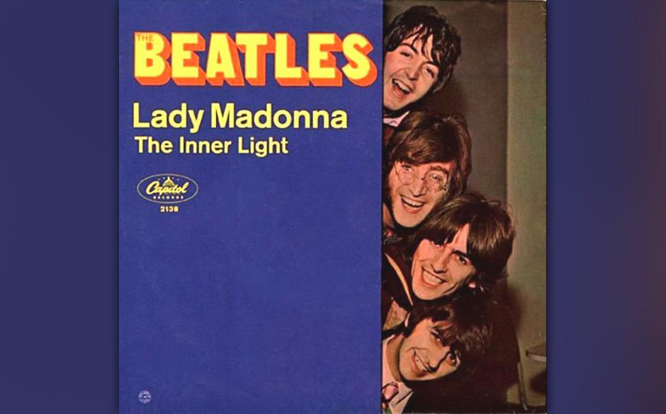 """86. """"Lady Madonna"""" Autor: McCartney, Aufgenommen: 3. und 6. Februar 1968, Veröffentlicht: 27. Februar 1968, 6 Wochen, Nr"""