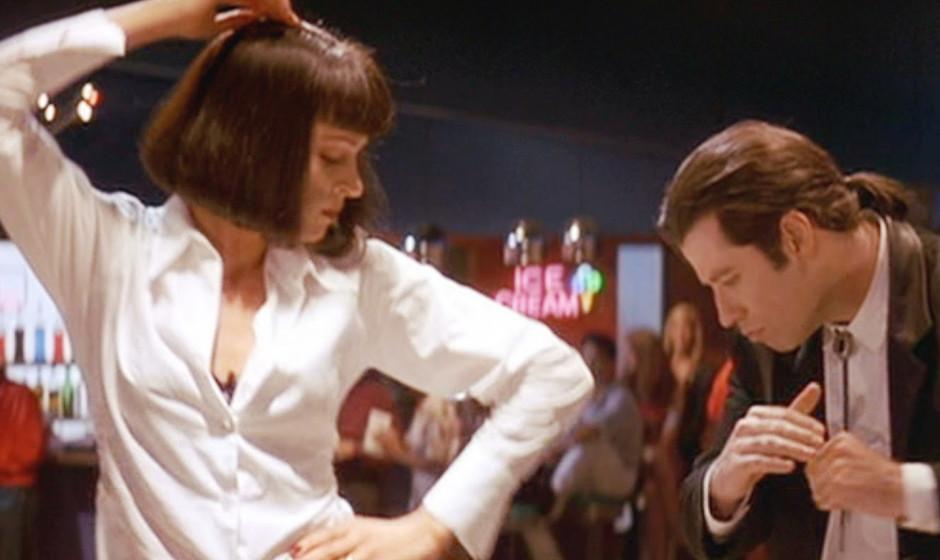 3. Pulp Fiction (1994). Der heroinabhängige Mörder im Smoking, der auch mit Bauchansatz noch geschmeidige Bewegungen auf de