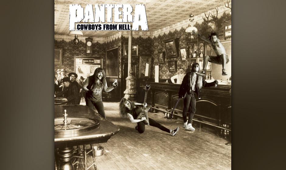 96. Pantera: 'Cowboys From Hell' (1990) Das fünfte Album brachte nicht nur den Major-Deal, sondern auch die fulminante Abkeh